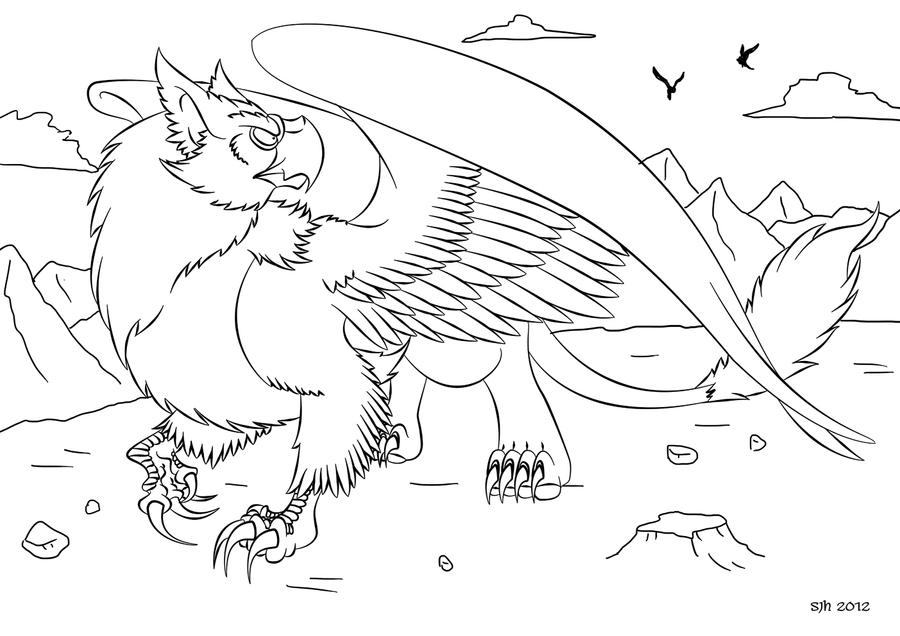 Griffon: Reds Coloring In Page 3 by darkly-shaded-shadow on DeviantArt
