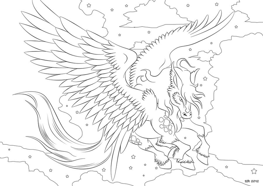 Pegasus Coloring in Page 4 by darkly shaded shadow on DeviantArt