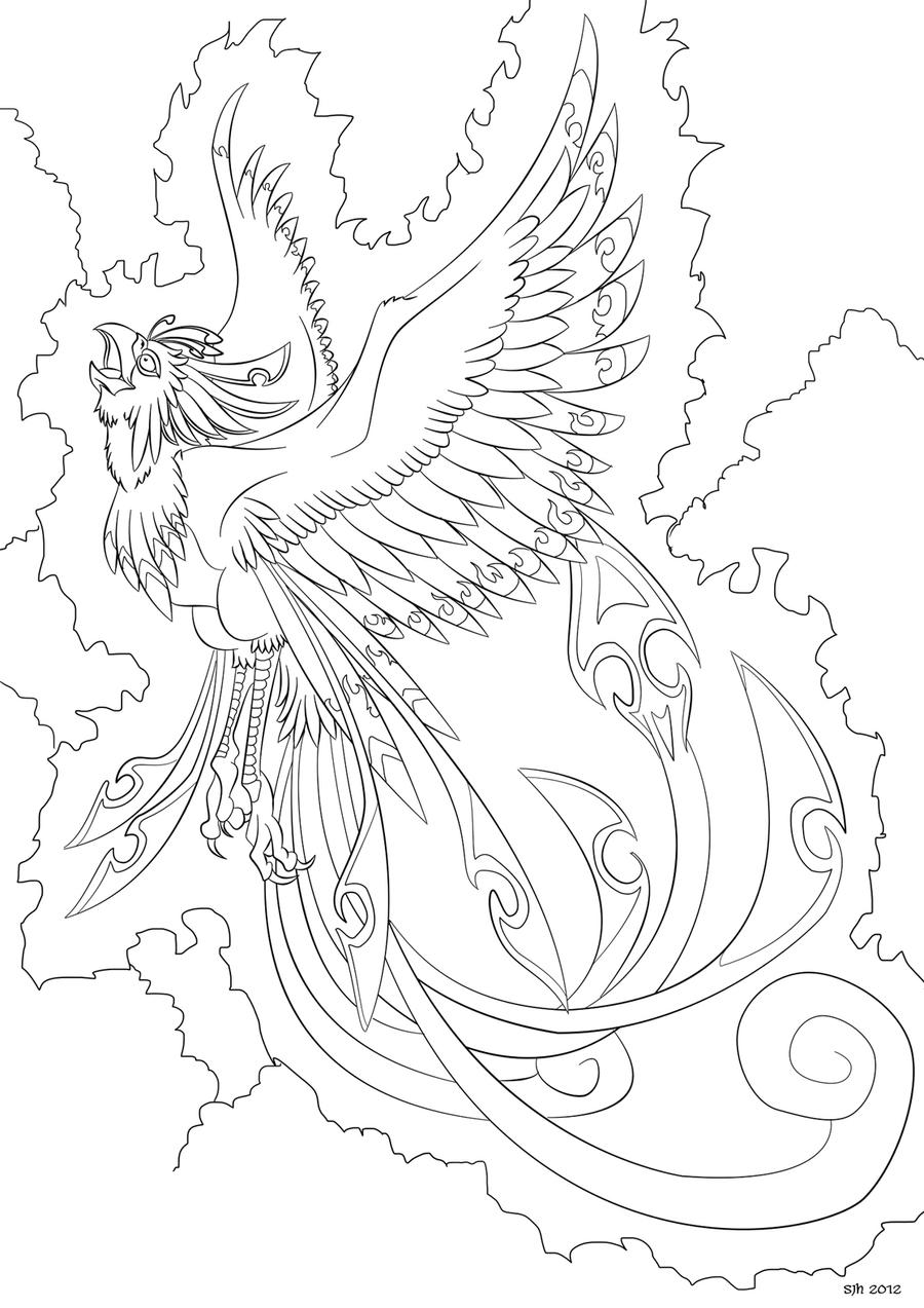 coloring pages of phoenix - photo#8