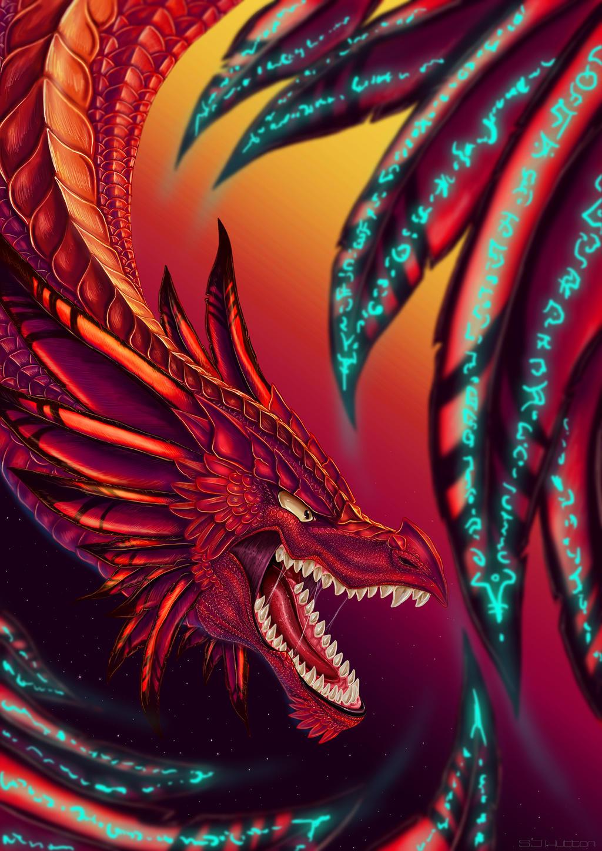Fantasy, Dragon, Sunset wallpaper | creative and fantasy ... |Dragons And Sunsets