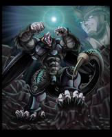 Dragonball Z AU - Oozaru Cell by darkly-shaded-shadow