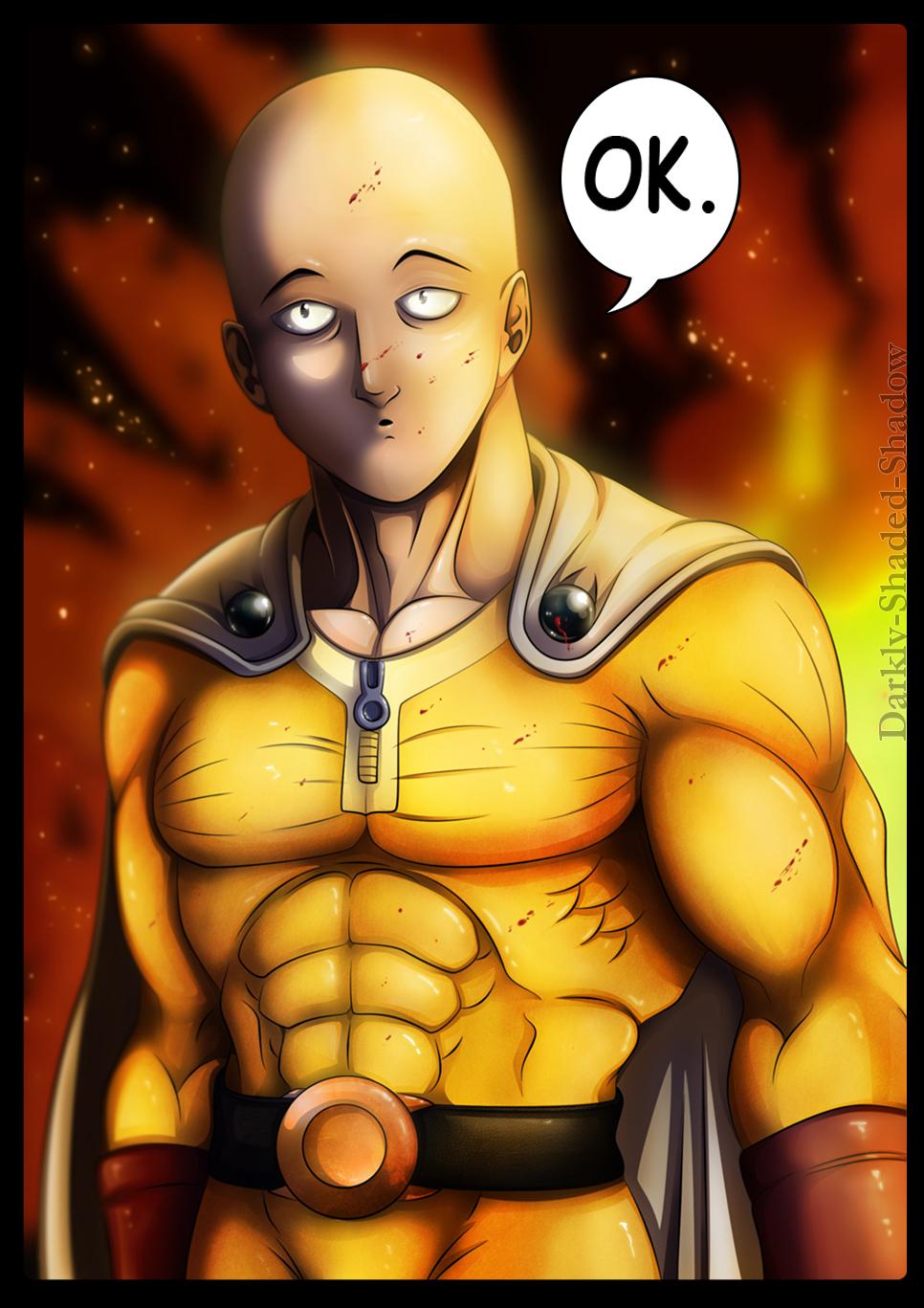 Saitama - One Punch Man by darkly-shaded-shadow on DeviantArt