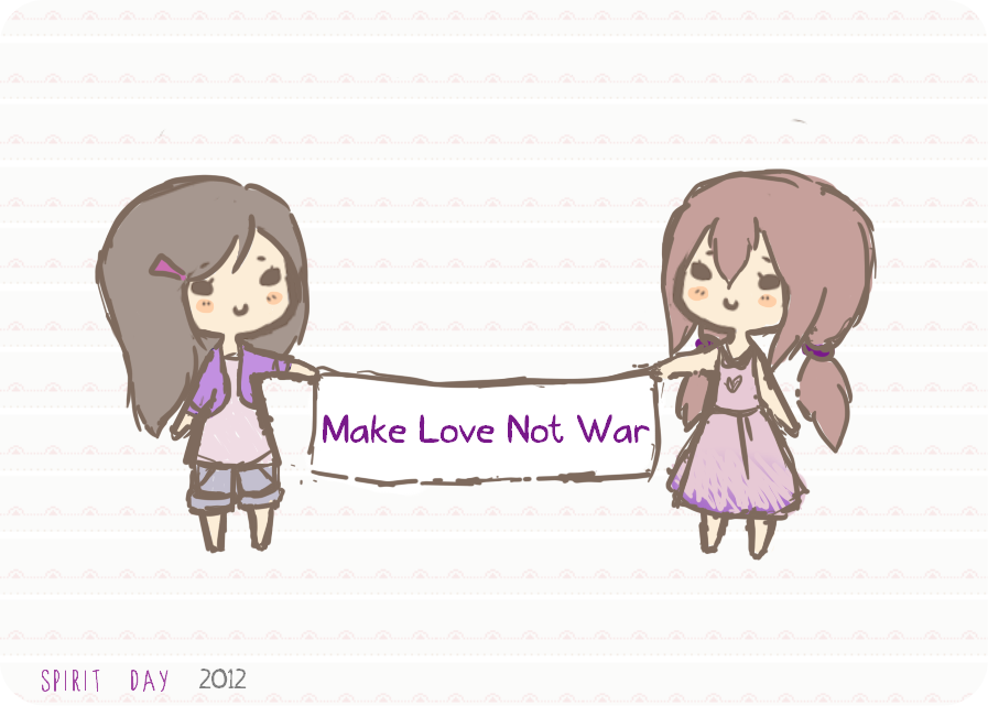 Make Love Not War by Aquilonn