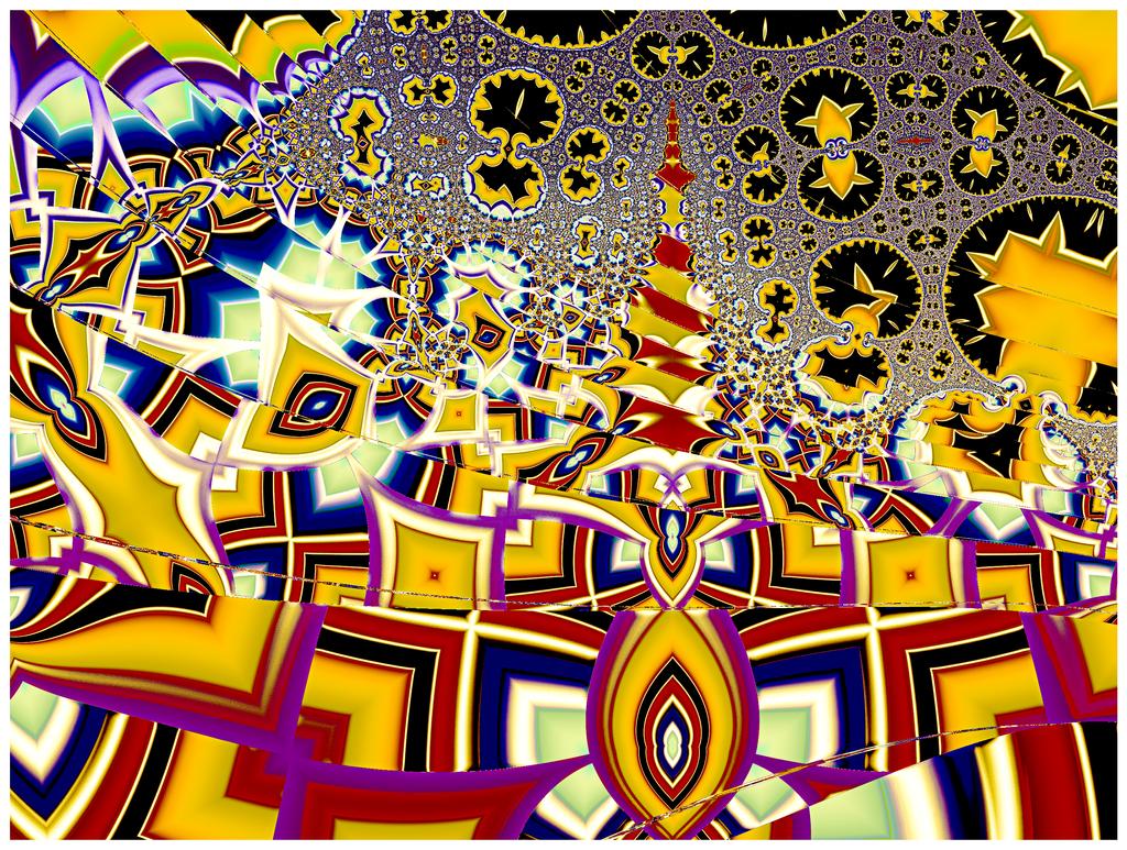 Tesselated Tessarine Townscape by OttoMagusDigitalArt