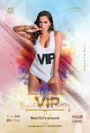 VIP Spring Party Free PSD Flyer Template