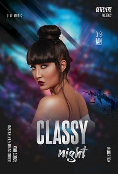 Classy Night Free PSD Flyer Template