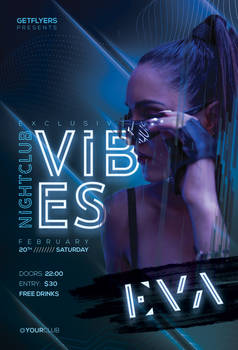 Nightclub Vibes Free PSD Flyer Template