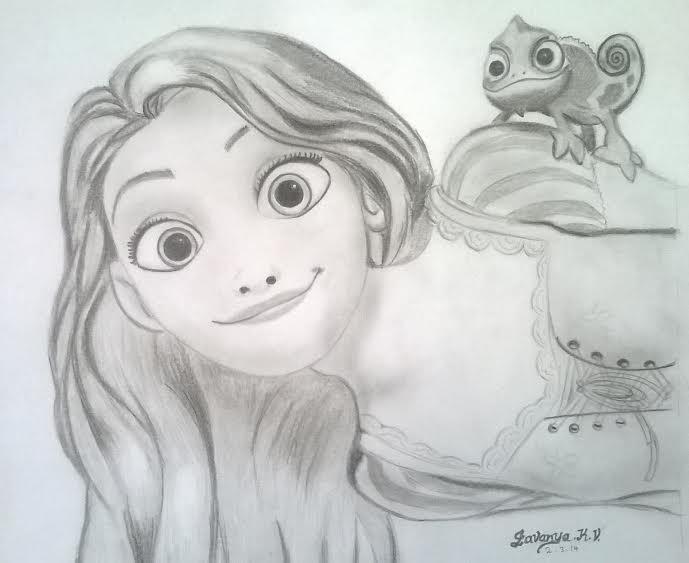 Rapunzel Pencil Sketch !!! ) ) ) By Lavanyakv On DeviantArt