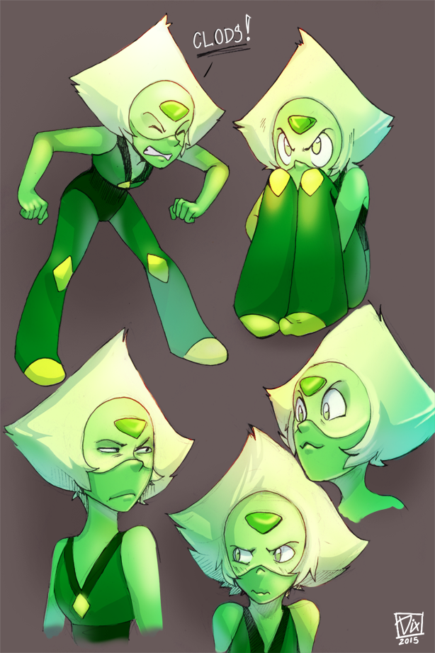 More Peridot. Today's doodles. Pen+Photoshop CS6 Time: ~3h Reblog it on Tumblr