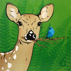 'Deer and Bird'