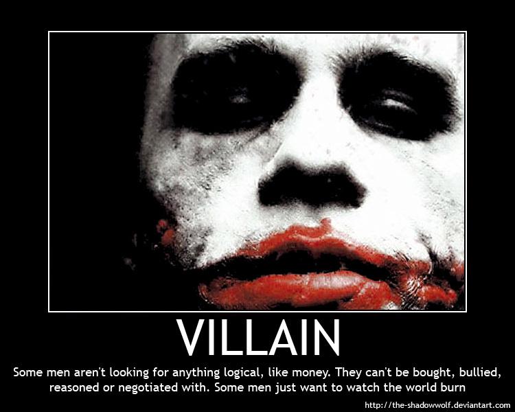 Motivational Poster: VILLAIN by the-shadowwolf on DeviantArt A Dark Truth