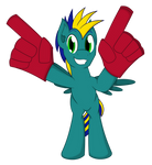 Commission: Astro Brony's Foam Fingers