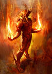 flaming slash