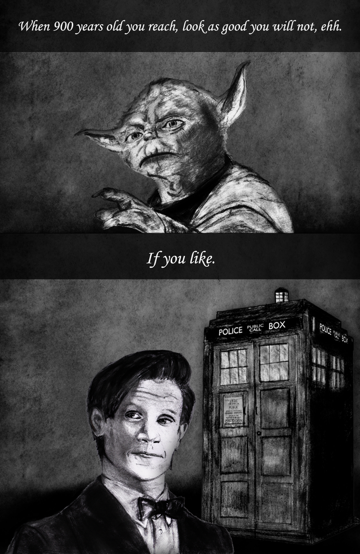 Yoda and Doctor Who - Pencil Drawings with Quotes by dragonrose1986 on Devian...