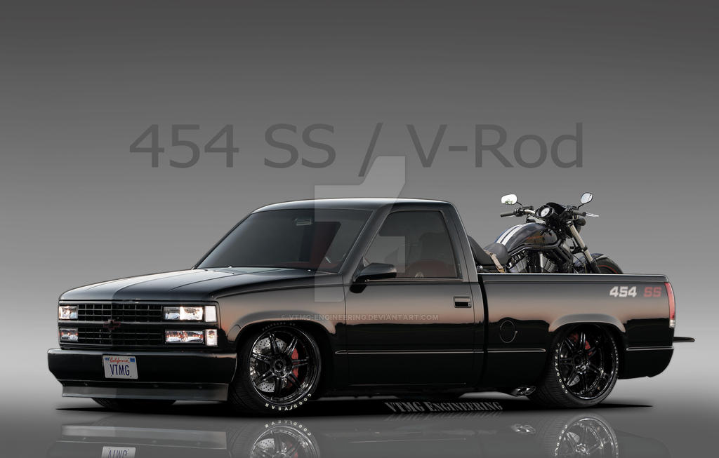 1990 Chevy 454 Ss And Harley Davidson V Rod By Vtmg Engineering On Deviantart