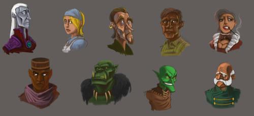 Face Studies by ckoehn