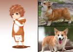 Korugi-chan: human form of Corgi