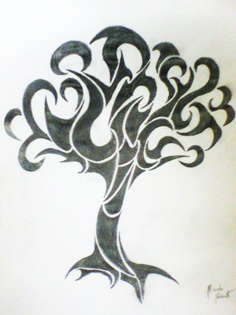 Tribal Tree Of Life: Tribal Tree By Songue On DeviantArt