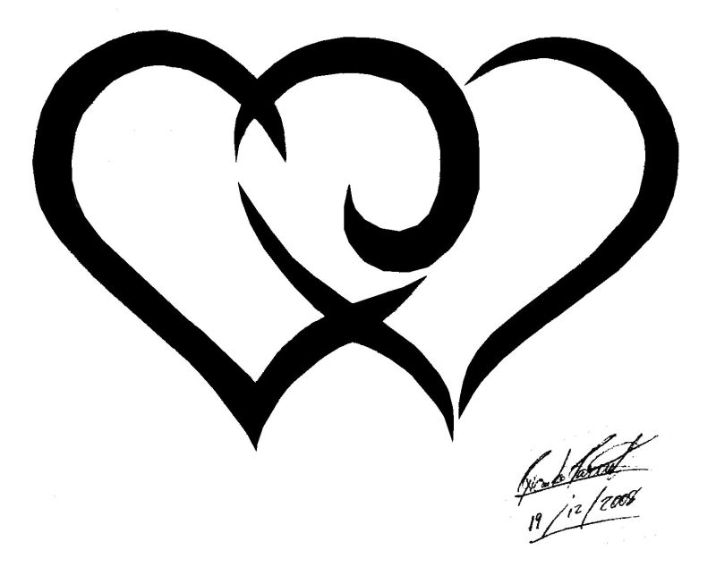 Tribal Hearts by Songue on DeviantArt