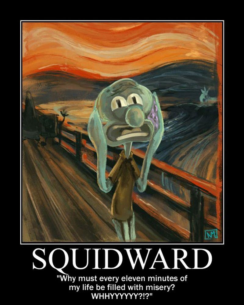 motivation squidward by songue on deviantart
