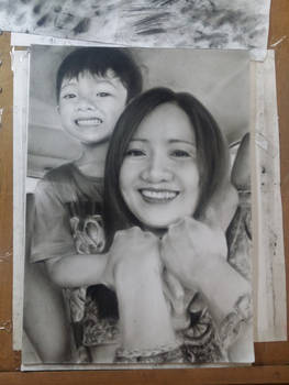 commission portrait mother and child