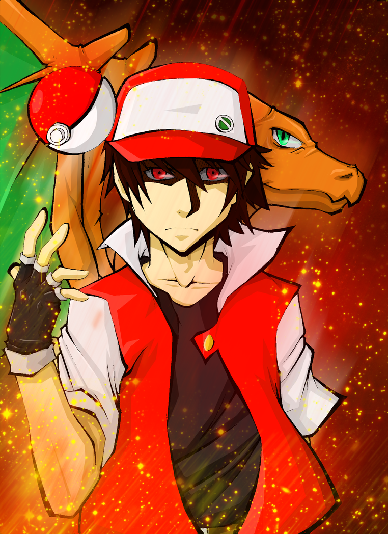 how to draw pokemon trainer red