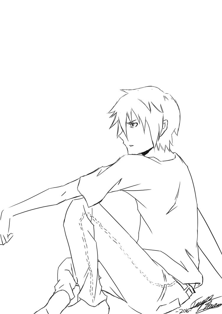Sitting 1 by mangaxai