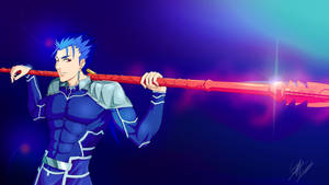 FAN ART - CuChulainn (Lancer) from Fate/Stay Night by mangaxai