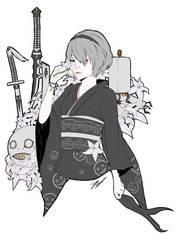 2B Kimono (Nier Automata) by mangaxai