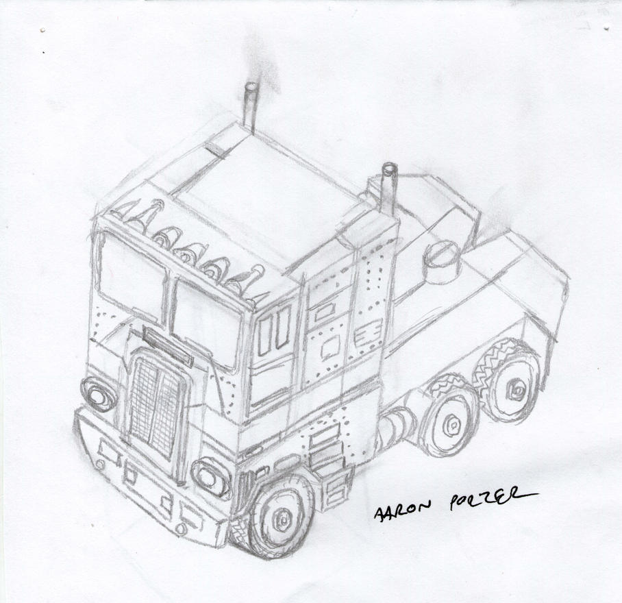 Optimus Prime G1 Toy Drawing by apcomics
