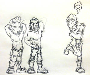 Doodle Comm 2 by GrannyandStu