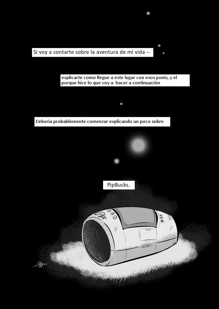 Fallout Equestria Comic Pagina 1 Prologo Spanish