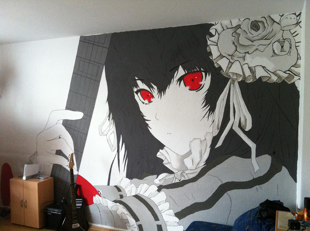 mural anime painting by theseraphion on deviantart. Black Bedroom Furniture Sets. Home Design Ideas