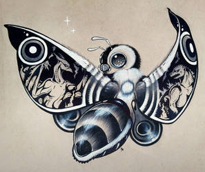 Mothra tattoo design by Shon2
