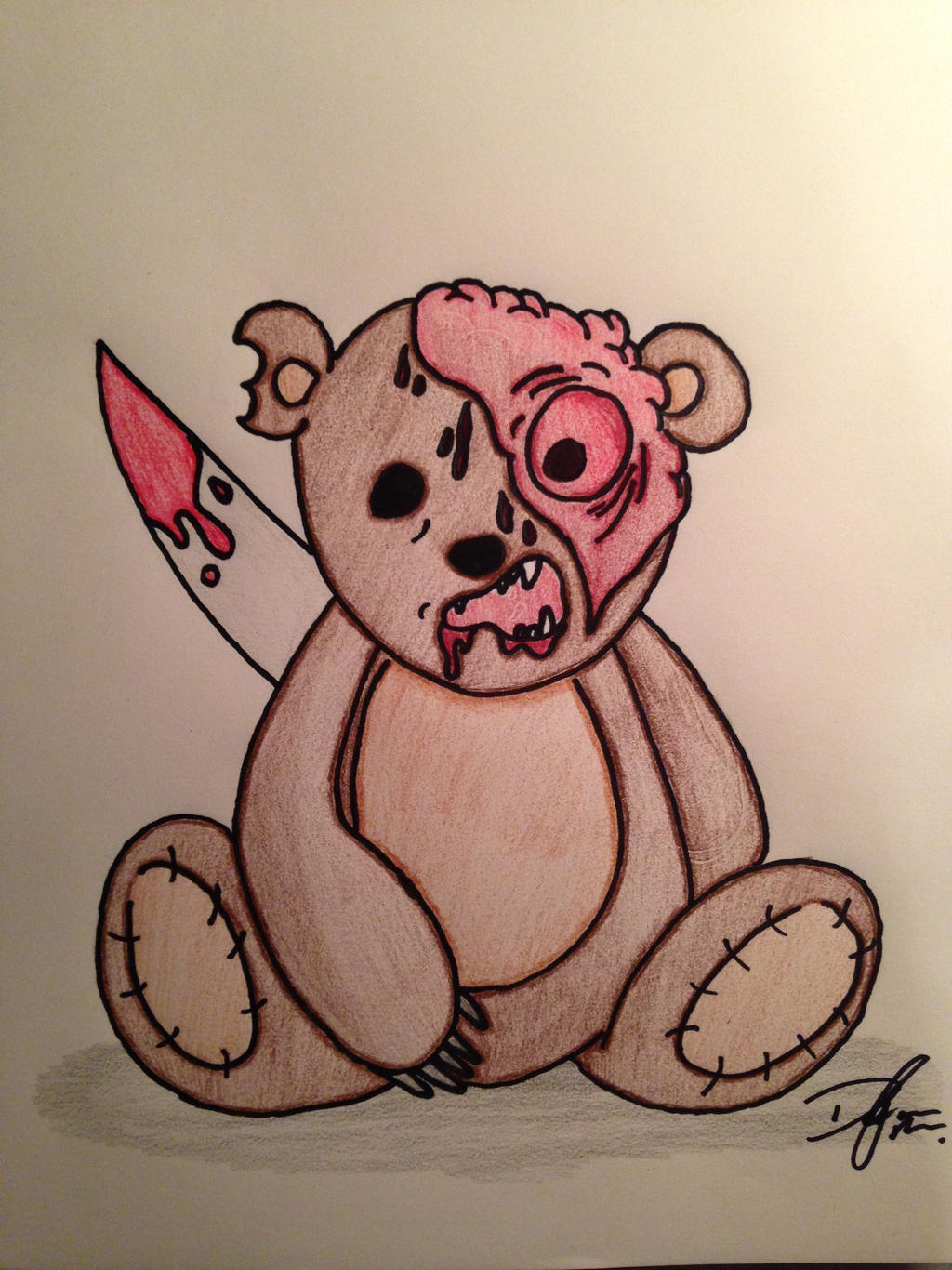 Evil Teddy Bear by DylanMilam on DeviantArt