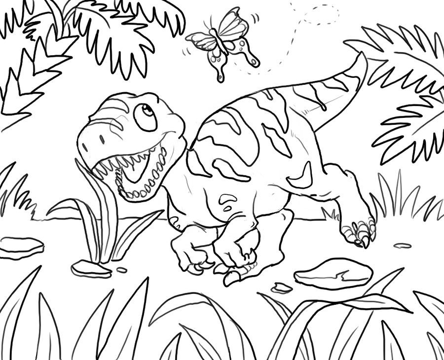 Dino Coloring Book Coloring Book of Coloring Page