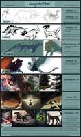 Commission Rate Sheet: Aka 'Kasey's Art Menu!'