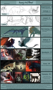 Commission Rate Sheet: Aka 'Kasey's Art Menu!'