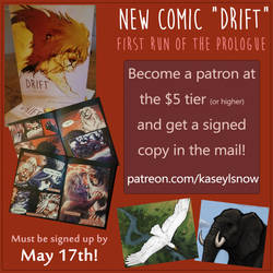 Last Day for the Drift Comic Deal!! by kaseylsnow