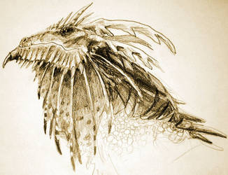dragon head thinger by kaseylsnow
