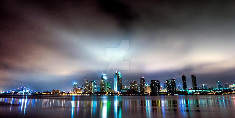 San Diego Skyline HDR by trevor-w