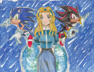 Sonic Shadow Maria by BoxcarChildren