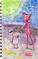 Courage and Katz -Moon and Spiders Web by BoxcarChildren