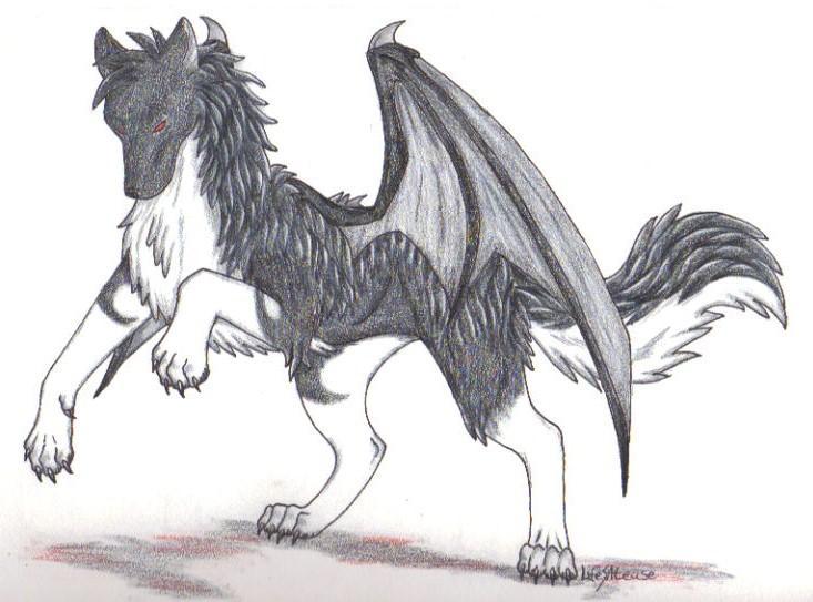 Demon Wolf by LifesATease on DeviantArt - photo#38