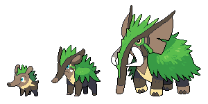 001, 002, 003 Grass Starters by SirAquakip