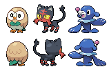 Pokemon Sun and Moon Starters by SirAquakip