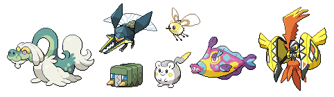 New 7 Alola Pokemon Sprites by SirAquakip