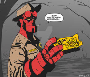 Sheriff Hopper Hellboy