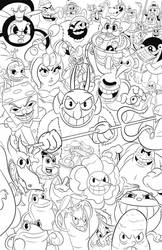 Cuphead Bosses Fan Piece - Inks