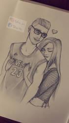 PORTRAIT- My boyfriend and me by Tolina